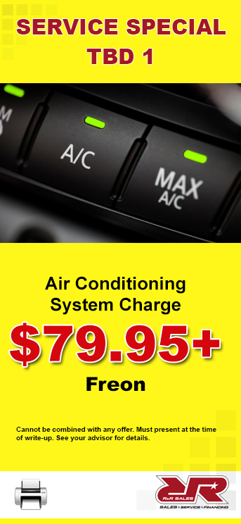 Air Conditioning System Charge coupon
